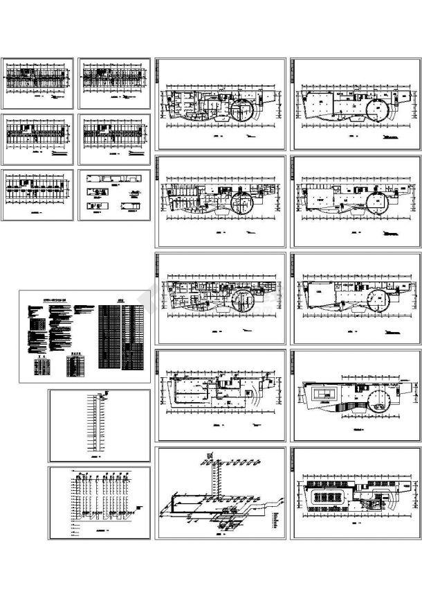 [广东]综合高层商务酒店暖通空调制冷系统设计施工图(含供热部分设计)某酒店空调系统图-图一