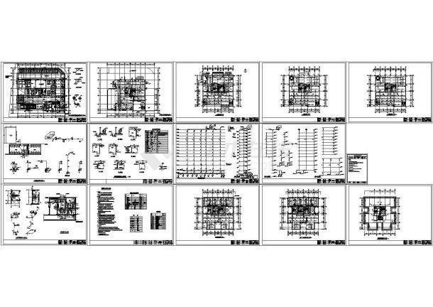 某小高层办公楼带地下室给排水设计施工图.-图一