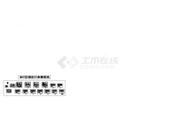 【浙江】某市公安局指挥中心综合楼暖通工程设计图-图一
