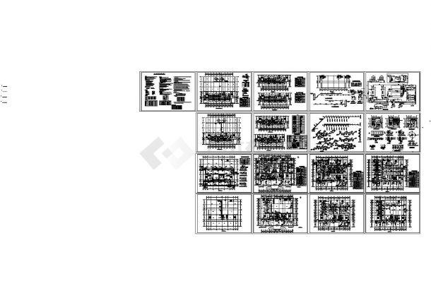 某地区宾馆整套空调管线暖通工程设计图-图一