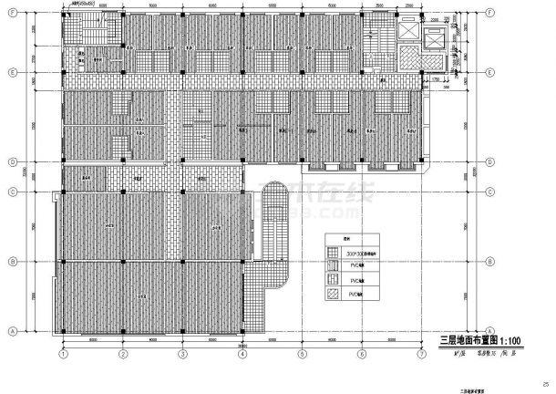 某商城宾馆室内装饰改造工程设计cad图纸-图一