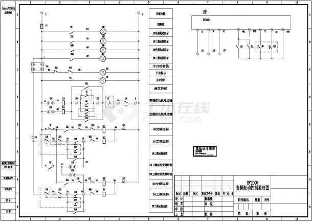EV2000变频起动控制原理图-图一