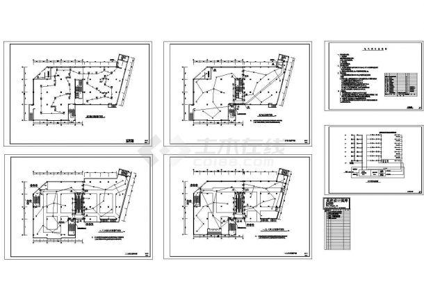 某六层商场电气施工图(含电气说明)-图一
