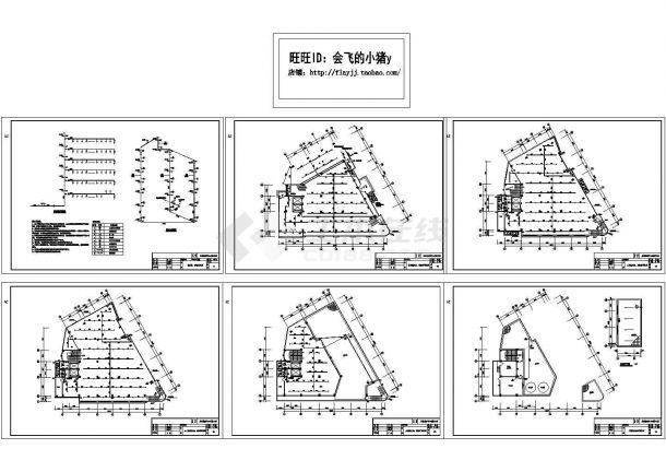 某地区6层市中心医院外科整形中心消防工程给排水施工图-图一