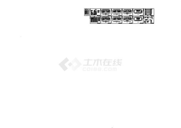 商务办公楼中央空调管道设计cad施工图(含目录,设计说明,材料表)-图一