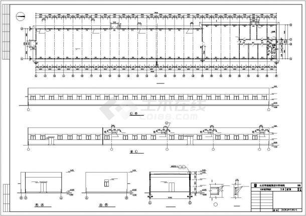某110kv变电所电气cad典型设计图纸-图一