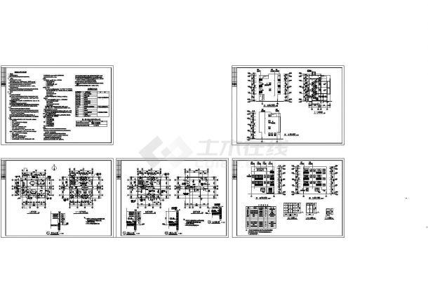 451平米四层别墅建筑结构图纸(含效果图)-图一