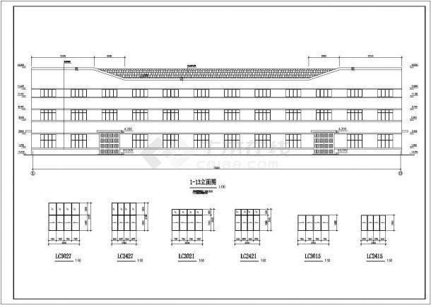某地排架结构单层厂房结构设计施工图-图二
