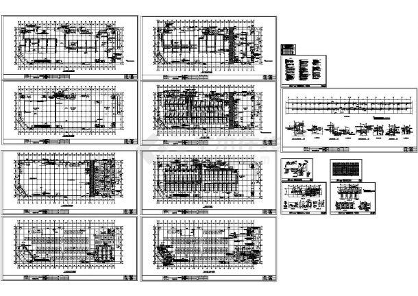 上海某购物中心商场大楼空调设计cad施工图(含设计说明)-图一
