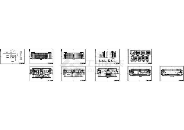 5332.71平米五层框架办公楼建筑施工cad图,共十张-图一