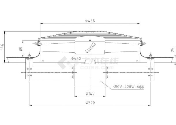 某铸造车间环保空调设计cad方案施工图(含详细设计方案书)-图一