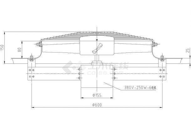 某铸造车间环保空调设计cad方案施工图(含详细设计方案书)-图二