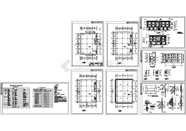 西安古建营业厅建筑设计图-图一