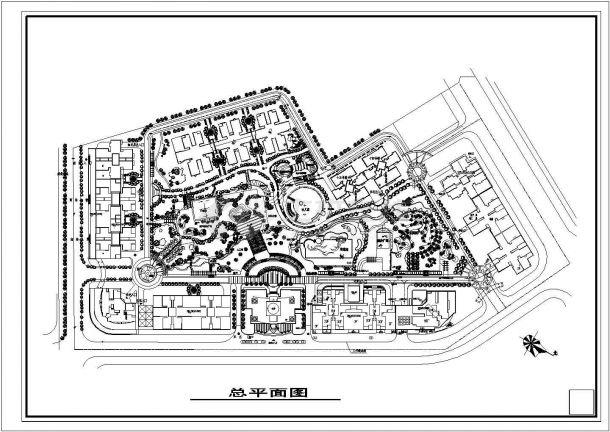 绿色环保高层小区规划设计CAD图纸-图一