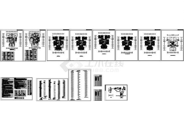 高层住宅楼采暖、防排烟施工设计CAD图纸(含设计施工说明,目录)-图一
