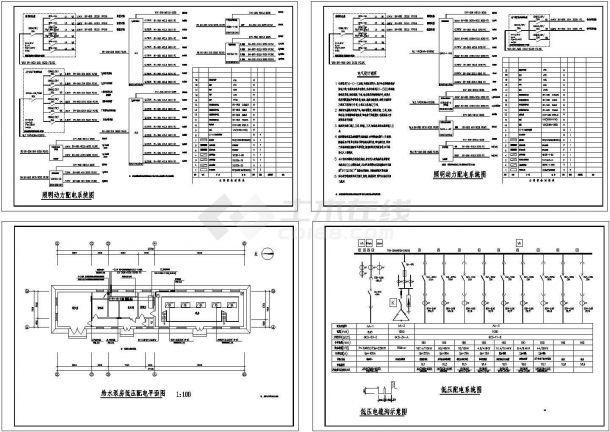 给水泵房低压配电系统图-图一
