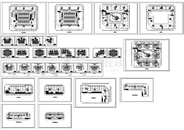 某高层住宅楼户型建筑CAD平面设计施工图-图一
