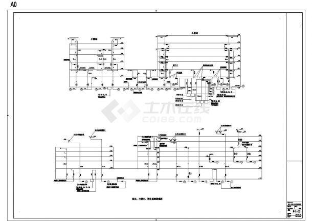 P1103排水、冷凝水、雨水系统原理图,共一张-图一