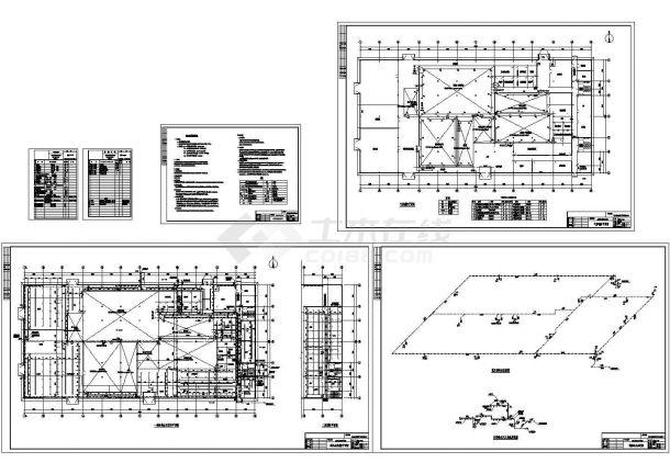 室内消火栓系统及气体灭火系统CAD图-图一