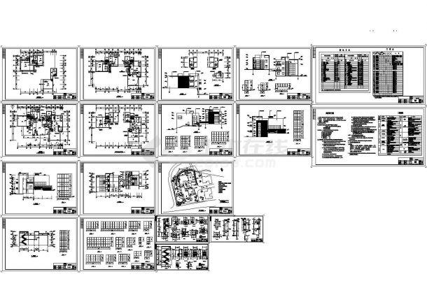 3层豪华别墅装饰建施cad图,共十八张-图一
