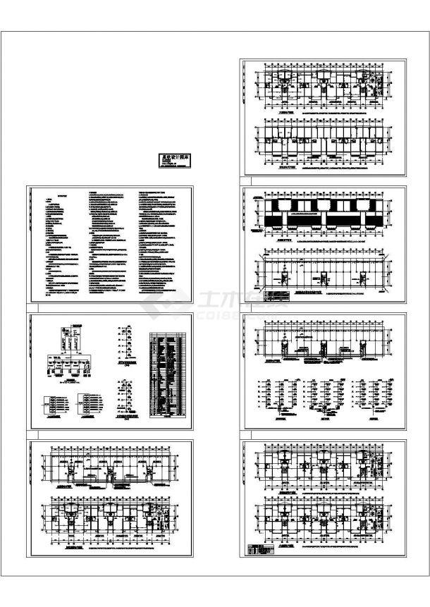 多层住宅楼电气平面图,共7张-图一