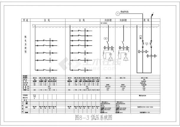 低压配电系统图标准CAD图-图一