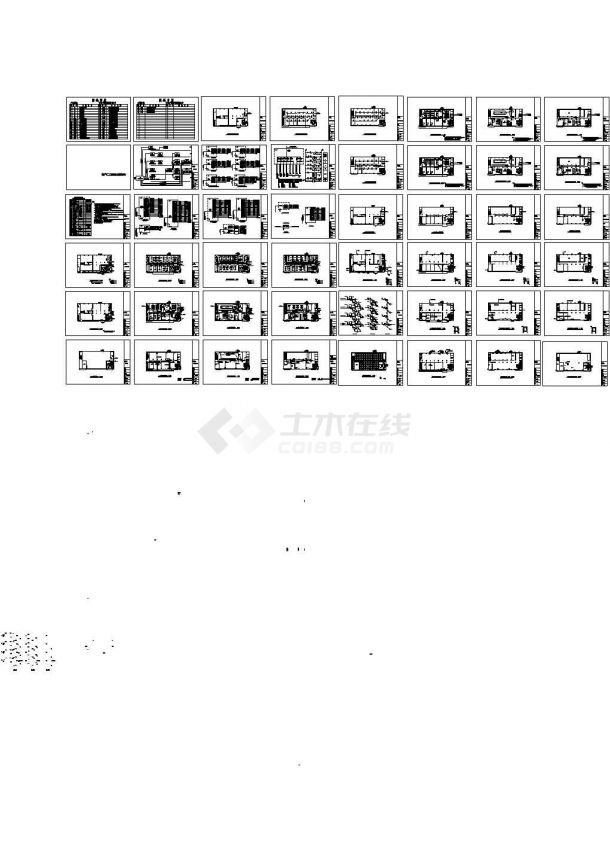 东莞某厂房电气与给排水施工图-图一