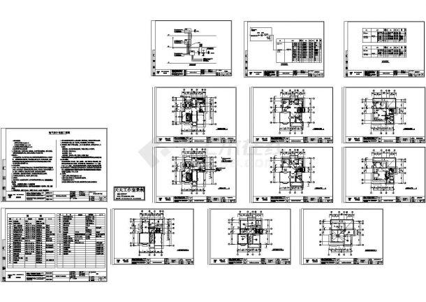 檀香花园186号独立别墅强弱电设计施工图纸-图一