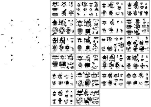 仿古建亭子设计图集20张-图一