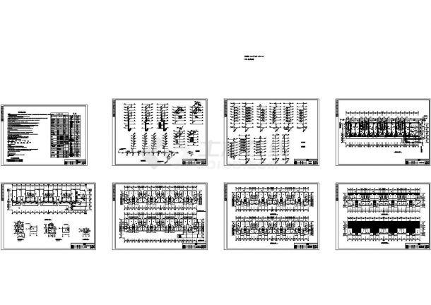 7层4单元6630平米商住楼给排水设计图(长73.9米 宽19.2米)-图一