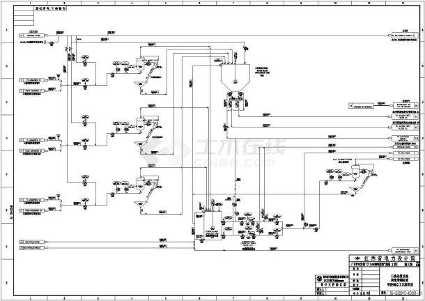 东莞某电厂烟气脱硫工艺流程图-图一