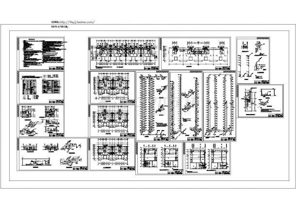 -1+24层法院干警公寓楼给排水施工图( 长73.18米 宽17.85米)-图一