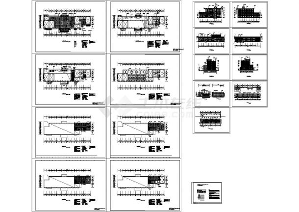 4层2300平米框架结构长途客运站建筑设计施工图-图一