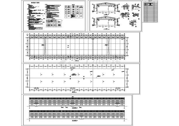 单层3137平米24M跨排架钢筋混凝土排架厂房建筑图( 长126.8米 宽24.74米 )-图一