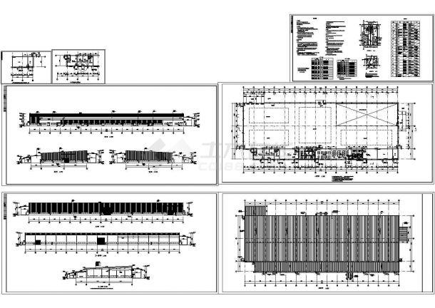 6834.4平米钢结构高强度坚固件生产厂房建筑图(长135米 宽49米)-图一