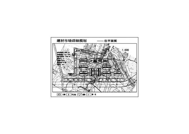 市场建设规划设计CAD施工图-图一