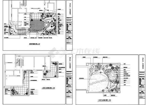 室内外环境绿化种植CAD平面图-图一