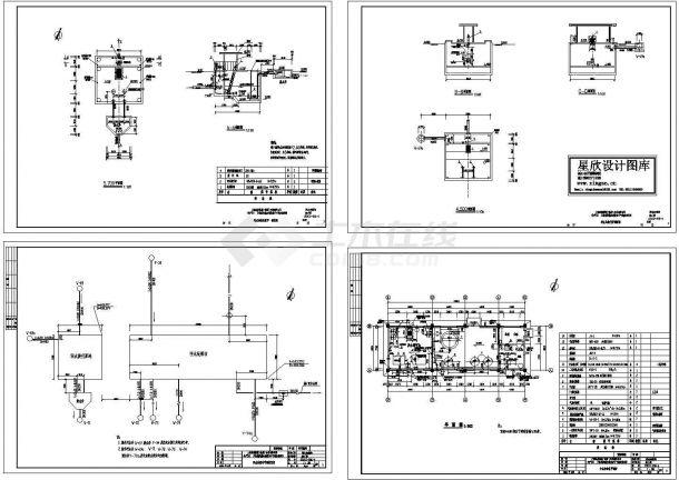 某工厂污水处理站电气施工图-图一