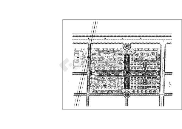 蜀都新城建设规划设计CAD施工图-图一