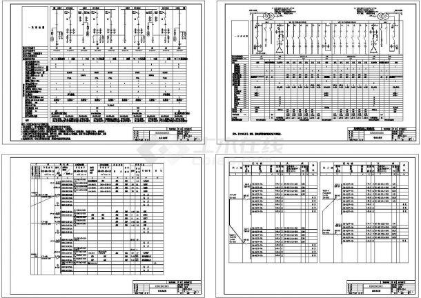 某工厂电气系统设计图-图一