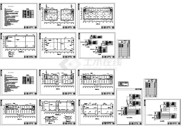 某2层工艺厂房电气施工设计图-图一