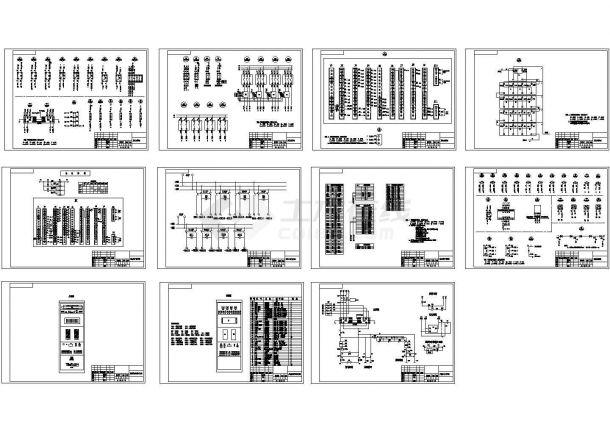直流屏完整CAD图纸-图一