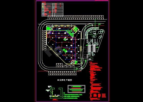 酒店电气设计图纸-图一