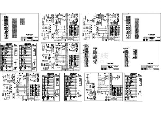 10KV高压柜二次系统CAD图-图一