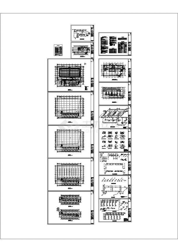【杭州】某五层中学游泳馆及宿舍楼给排水施工图纸(标注明细)-图一