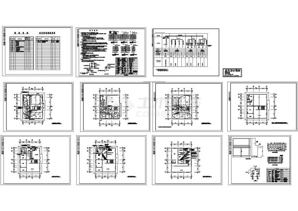 多层热交换站电气设计图纸,标注明细-图一