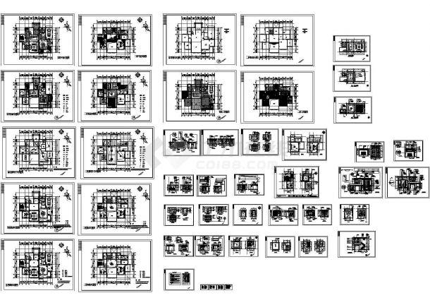 整套欧式别墅建筑设计cad图(含七篇电气安装工程说明)-图一