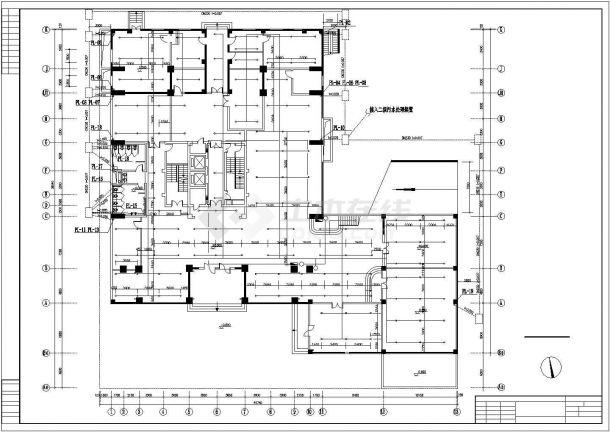 广播大楼给排水管网系统cad施工图-图一