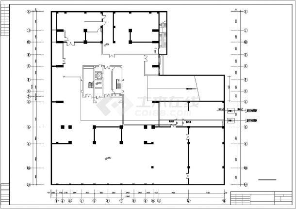 广播大楼给排水管网系统cad施工图-图二