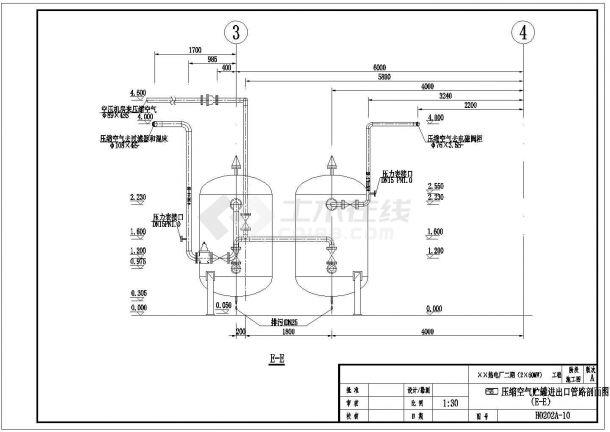 电厂锅炉补给水处理系统全套建施cad图-图一